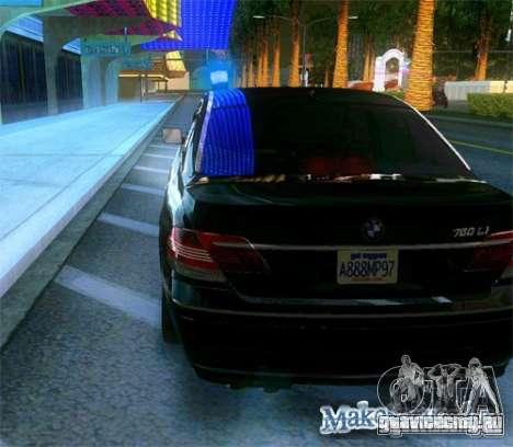 BMW 760Li (e66) SE для GTA San Andreas вид сбоку