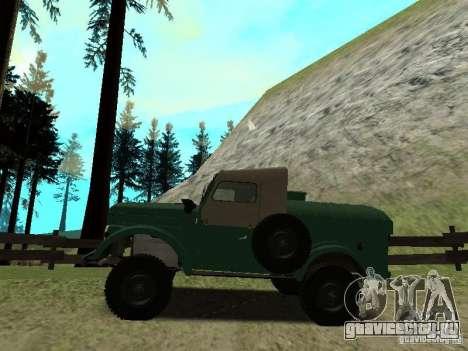 ГАЗ 69 АПА 12 для GTA San Andreas вид слева