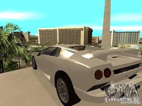 Lamborghini Diablo VT 1995 V2.0 для GTA San Andreas вид сзади слева