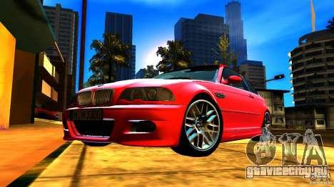 BMW M3 e46 для GTA San Andreas вид снизу