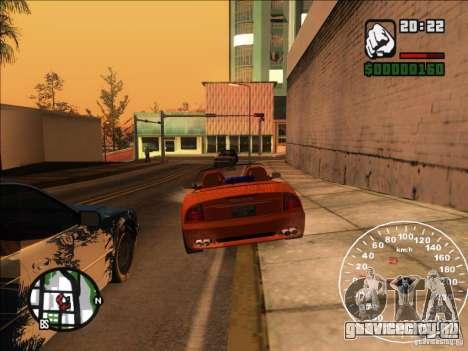 Spyder Cambriocorsa для GTA San Andreas вид сверху