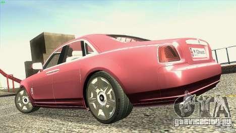 Rolls-Royce Ghost 2010 V1.0 для GTA San Andreas вид сверху