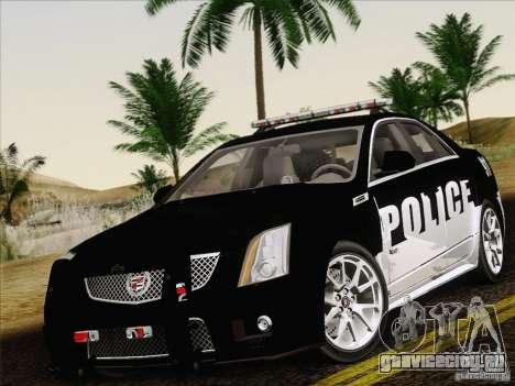 Cadillac CTS-V Police Car для GTA San Andreas вид сбоку