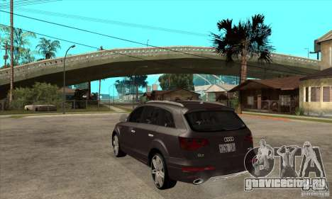 AUDI Q7 V12 V2 для GTA San Andreas вид сзади слева