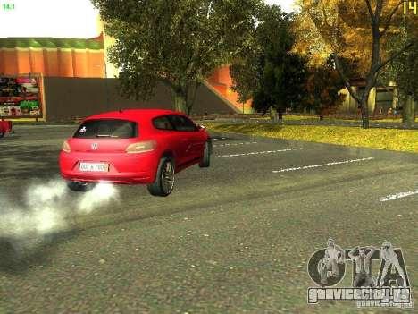 Volkswagen Scirocco 2009 для GTA San Andreas вид сзади