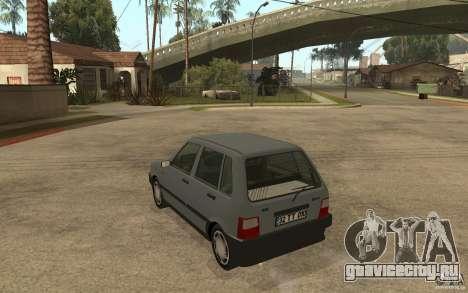 Fiat Uno 70s для GTA San Andreas вид сзади слева