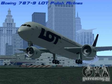 Boeing 787-9 LOT Polish Airlines для GTA San Andreas