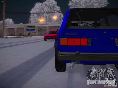 Volkswagen Rabbit GTI для GTA San Andreas вид сбоку