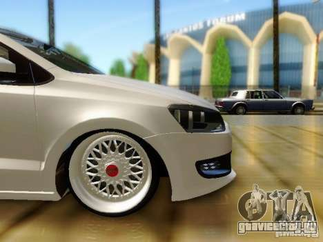 Volkswagen Polo 6R TSI Edit для GTA San Andreas вид справа