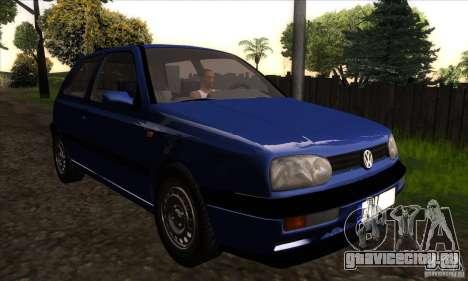 Volkswagen Golf 3 для GTA San Andreas вид сзади