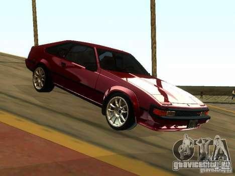 Toyota Celica Supra для GTA San Andreas вид сзади