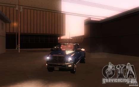 Dodge Ram 3500 Laramie 2010 для GTA San Andreas вид сверху