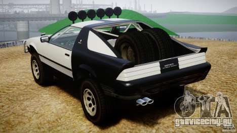 Ruiner Trophy Truck для GTA 4 вид изнутри
