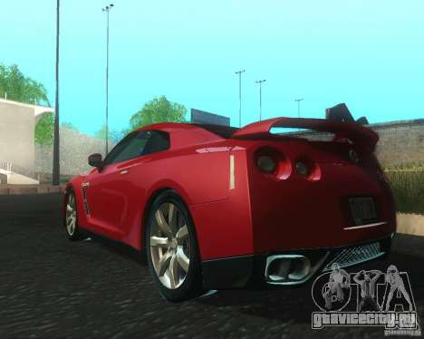 Nissan GTR R35 Spec-V 2010 Stock Wheels для GTA San Andreas вид сзади слева