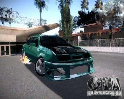 Ford Sierra Drift для GTA San Andreas вид сзади слева