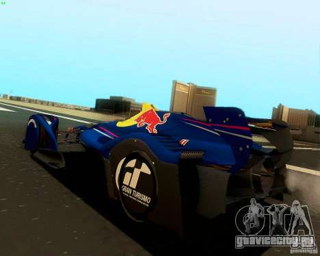 X2010 Red Bull для GTA San Andreas вид слева