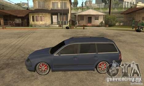 Volkswagen Passat B5.5 2.5TDI 4MOTION для GTA San Andreas вид слева