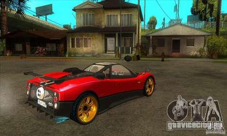 Pagani Zonda Tricolore V1 для GTA San Andreas вид справа