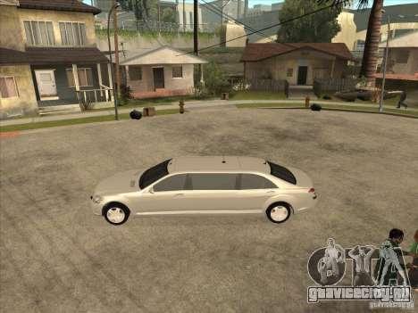 Mercedes-Benz Pullman (w221) SE для GTA San Andreas вид сзади слева