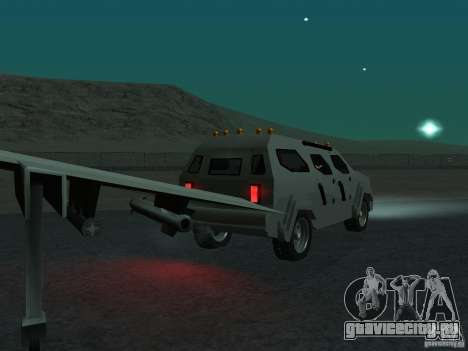 FBI Truck from Fast Five для GTA San Andreas вид сзади
