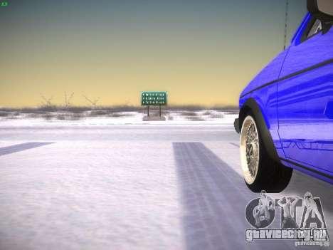 Volkswagen Rabbit GTI для GTA San Andreas вид сзади