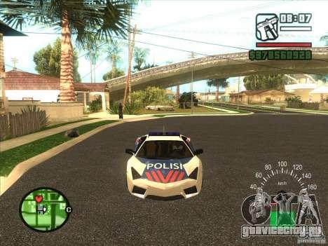 Lamborghini Reventon Police для GTA San Andreas вид слева