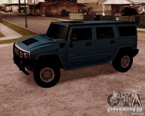 Hummer H2 SUV для GTA San Andreas вид слева