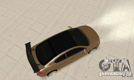 Toyota Scion tC Edited для GTA San Andreas вид сзади слева