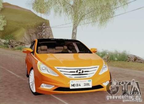 Hyundai Sonata 2012 для GTA San Andreas салон