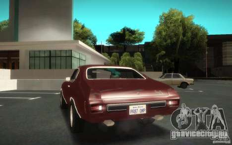 Chevrolet Chevelle SS для GTA San Andreas вид изнутри