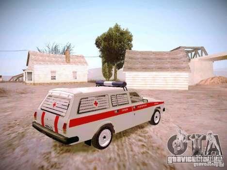 ГАЗ 310231 Скорая для GTA San Andreas вид сзади слева