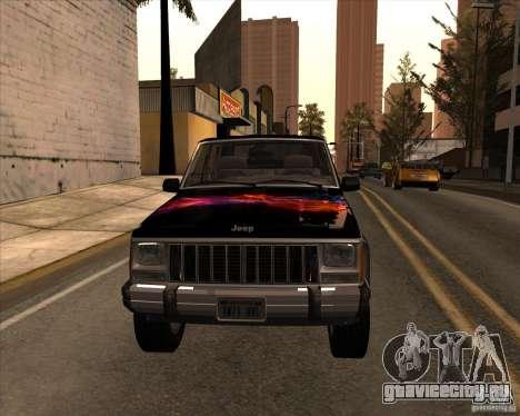 Jeep Cherokee для GTA San Andreas вид изнутри