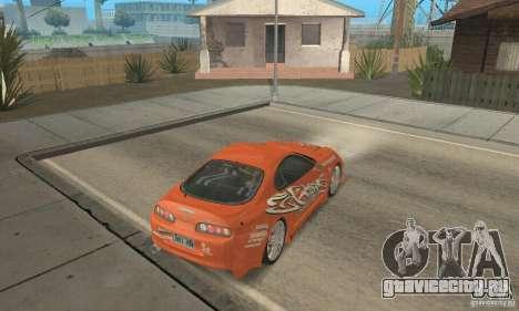 Toyota Supra Tunable 2 для GTA San Andreas двигатель