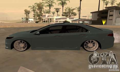 Acura TSX 2010 для GTA San Andreas вид сзади