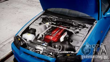 Nissan Skyline R-34 V-spec для GTA 4 вид сбоку