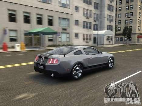 Shelby GT500 2010 для GTA 4 вид сзади