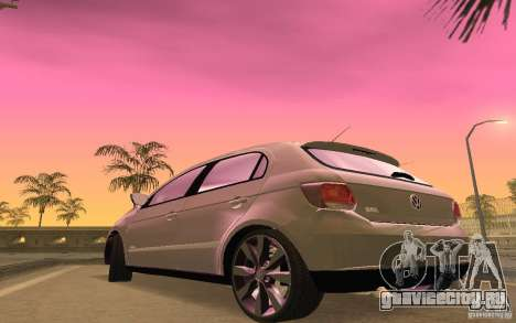 Volkswagen Gol G6 для GTA San Andreas вид изнутри