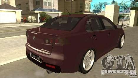 Proton Inspira v1 для GTA San Andreas вид справа