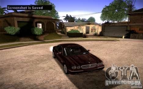Jaguar Xj8 для GTA San Andreas вид сзади