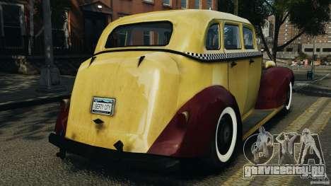 Shubert Taxi для GTA 4 вид сзади слева