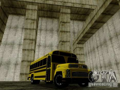 International Harvester B-Series 1959 School Bus для GTA San Andreas вид сзади слева