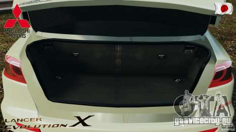 Mitsubishi Lancer Evolution X 2007 для GTA 4 вид сверху