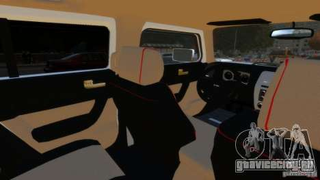 Hummer H3 2005 Gold Final для GTA 4 вид сзади