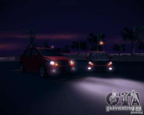 Nissan Versa Stock для GTA San Andreas вид справа