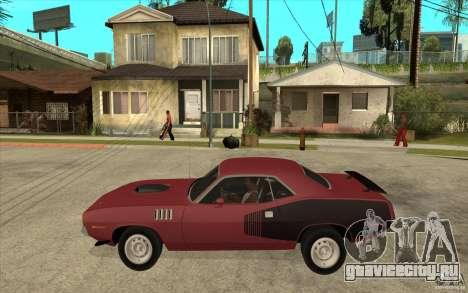 Plymouth Cuda 426 для GTA San Andreas вид слева