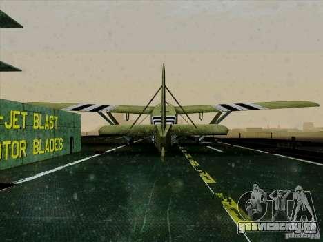 Самолёт из игры В тылу врага 2 для GTA San Andreas вид сзади