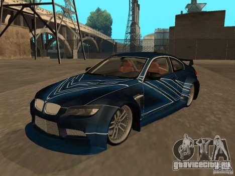 BMW M3 E92 Tunable для GTA San Andreas салон