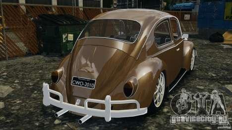 Volkswagen Fusca Gran Luxo v2.0 для GTA 4 вид сзади слева