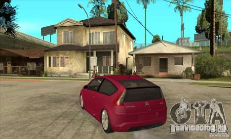 Citroen C4 VTS Coupe 2009 для GTA San Andreas вид сзади слева