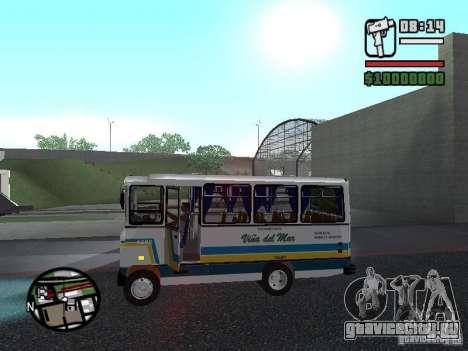 Cuatro Ases M.Benz LO608D для GTA San Andreas вид слева